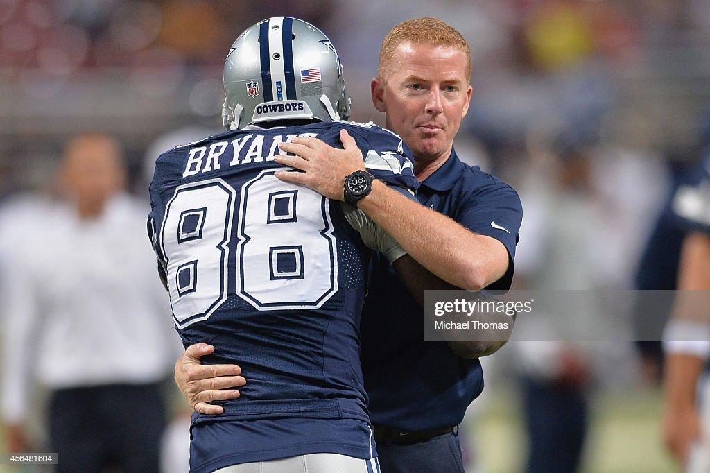 Head Coach Jason Garrett And Dez Bryant Both Of The Dallas