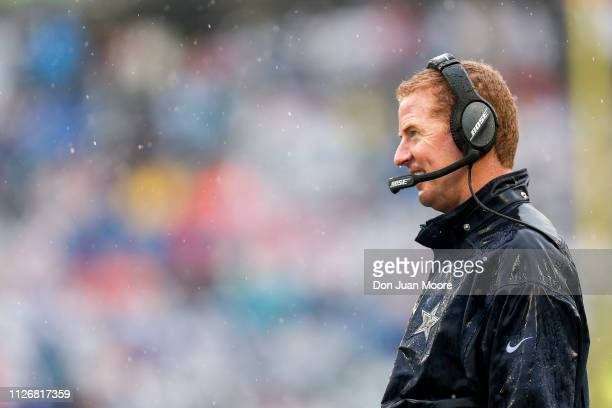Head Coach Jason Garrett of the Dallas Cowboys from the NFC Team on the sidelines during the NFL Pro Bowl Game at Camping World Stadium on January 27...
