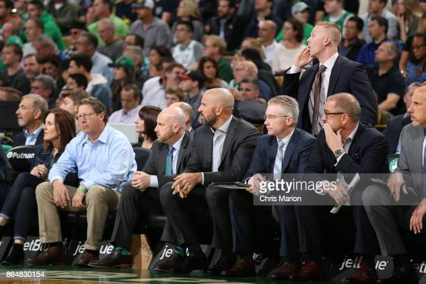 Head Coach Jason Kidd of the Milwaukee Bucks looks on from the sideline during the game against the Boston Celtics the on October 18 2017 at the TD...