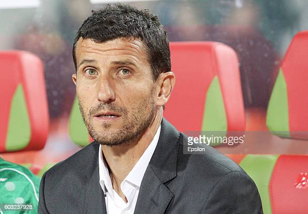 Head coach Javi Gracia of FC Rubin Kazan during the Russian Premier League match between FC Rubin Kazan and FC Ural Ekaterinburg at Tsentralnyj...