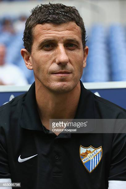 Head coach Javi Gracia of Malaga is seen prior to the match between FC Malaga and Newcastle United as part of the Schalke 04 Cup Day at VeltinsArena...