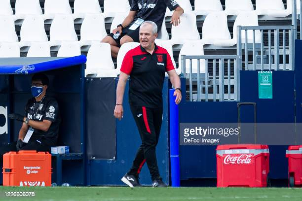 Head Coach Javier Aguirre of CD Leganes gestures during the Liga match between CD Leganes and Valencia CF at Estadio Municipal de Butarque on July...