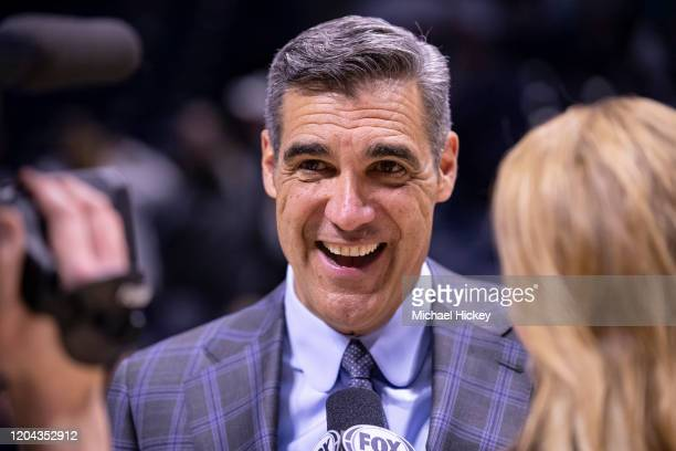 Head coach Jay Wright of the Villanova Wildcats is seen after the game against the Xavier Musketeers at Cintas Center on February 22, 2020 in...