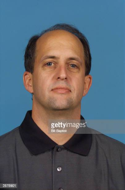 Head coach Jeff Van Gundy of the Houston Rockets during NBA Media Day at Toyota Center on October 2 2003 in Houston Texas NOTE TO USER User expressly...