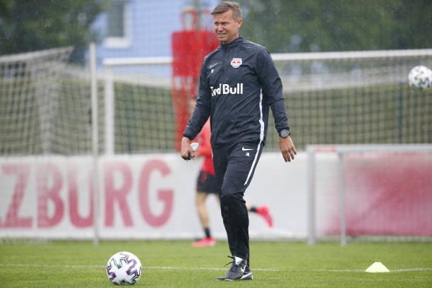 Head coach Jesse Marsch of Salzburg during the first RB Salzburg team trainings session at Trainingszentrum Taxham on May 15 2020 in Salzburg Austria