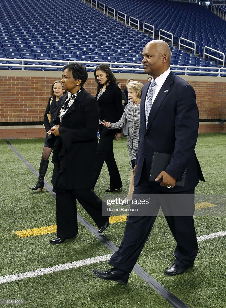 Detroit Lions Introduce Jim Caldwell : News Photo