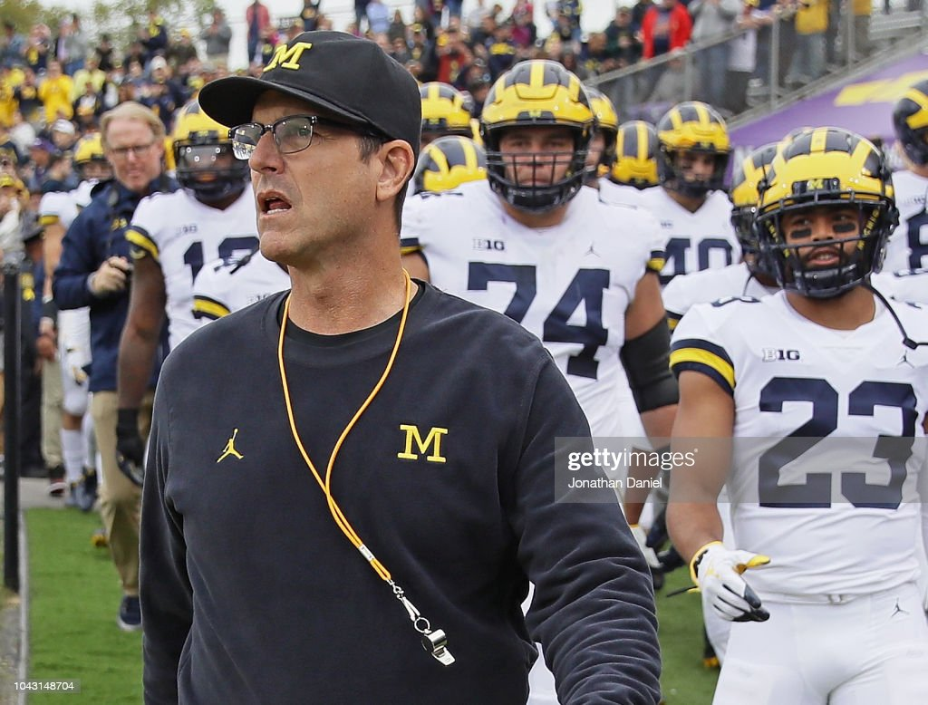 Michigan v Northwestern : News Photo