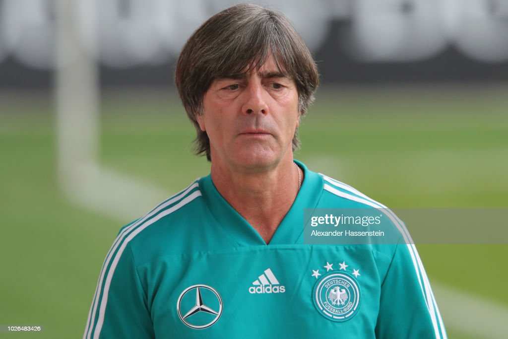 Head coach Joachim Loew arrives at the venus prior to a training session of the German national team at FC Bayern Campus on September 3, 2018 in Munich, Germany.