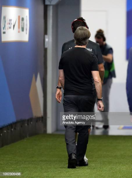 Head coach Joachim Loew of Germany leaves after the UEFA Nations League A Group 1 match between France and Germany at Stade de France in SaintDenis...