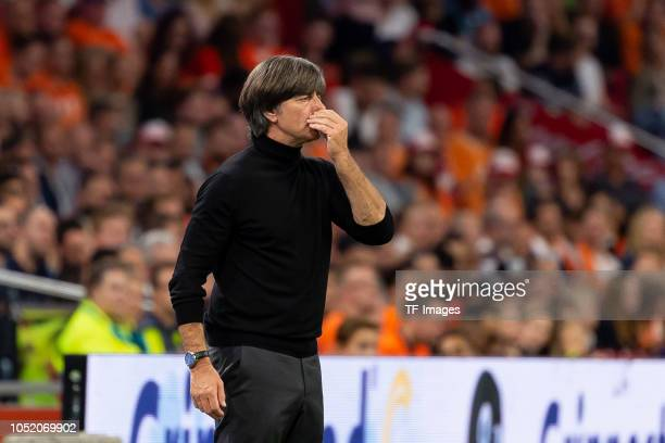 Head coach Joachim Loew of Germany looks dejected during the UEFA Nations League A group one match between Netherlands and Germany at Johan Cruyff...