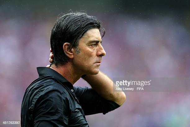 Head coach Joachim Loew of Germany looks on during the 2014 FIFA World Cup Brazil Group G match between USA and Germany at Arena Pernambuco on June...