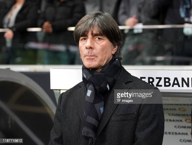 Head coach Joachim Loew of Germany looks on during the UEFA Euro 2020 Qualifier between Germany and Northern Ireland at Commerzbank Arena on November...
