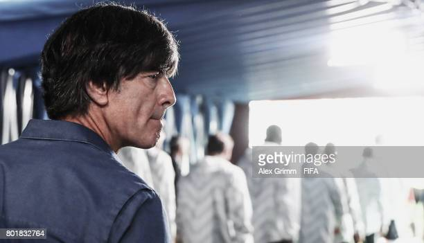 Head coach Joachim Loew of Germany looks on in the tunnel prior to the FIFA Confederations Cup Russia 2017 Group B match between Germany and Cameroon...