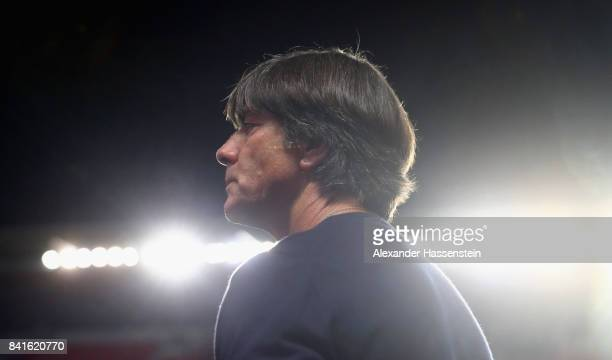 Head coach Joachim Loew of Germany looks on prior to the FIFA World Cup Russia 2018 Group C Qualifier between Czech Republic and Germany at Eden...