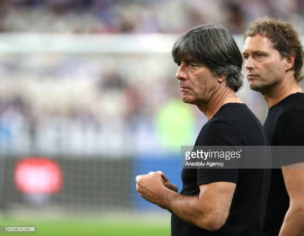 Head coach Joachim Loew of Germany looks on prior to the UEFA Nations League A Group 1 match between France and Germany at Stade de France in...