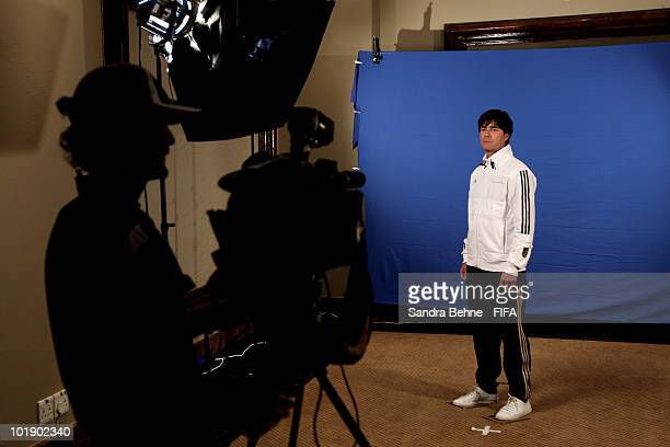 Head coach Joachim Loew of Germany poses during the official FIFA World Cup 2010 portrait session at Velmore Hotel on June 8 2010 in Pretoria South...
