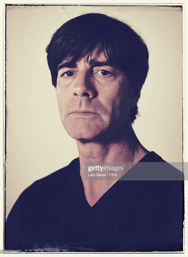 Head coach Joachim Loew of Germany poses during the official FIFA World Cup 2014 portrait session on June 8, 2014 in Salvador, Brazil.