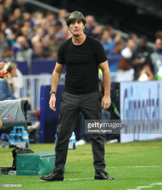 Head coach Joachim Loew of Germany reacts during the UEFA Nations League A Group 1 match between France and Germany at Stade de France in SaintDenis...