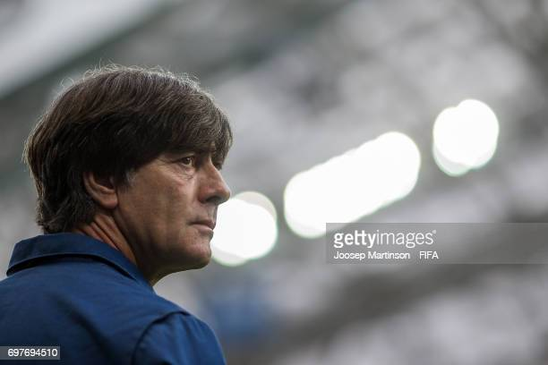 Head coach Joachim Low of Germany looks on during the FIFA Confederations Cup Russia 2017 group B football match between Australia and Germany at...