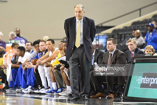 Head coach Joe Mihalich of the Hofstra Pride looks on during the Colonial Athletic Conference Championship college basketball game tournament against...