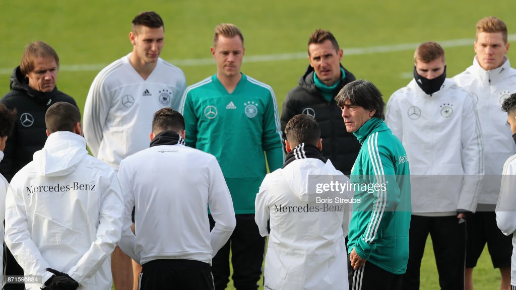 Germany Training And Press Conference : News Photo