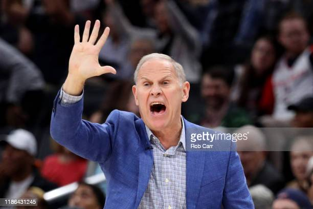 Head coach John Beilein of the Cleveland Cavaliers looks on against the Washington Wizards in the second half at Capital One Arena on November 08...