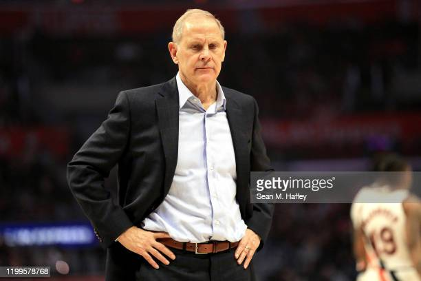 Head coach John Beilein of the Cleveland Cavaliers looks on during the second half of a game against the Los Angeles Clippers at Staples Center on...