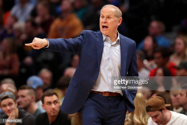 Head coach John Beilein of the Cleveland Cavaliers works the sidelines against the Denver Nuggets in the second quarter at the Pepsi Center on...