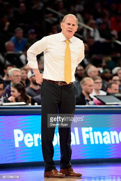 Head coach John Beilein of the Michigan Wolverines in action against the Michigan State Spartans during the semifinals of the Big Ten Basketball...