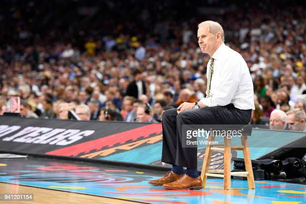 Head coach John Beilein of the Michigan Wolverines reacts during the second half of the 2018 NCAA Photos via Getty Images Men's Final Four National...