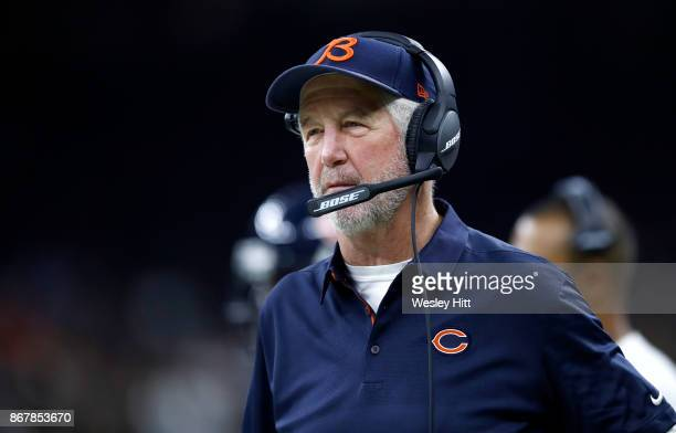 Head coach John Fox of the Chicago Bears looks on as his team takes on the New Orleans Saints during the first quarter at the MercedesBenz Superdome...