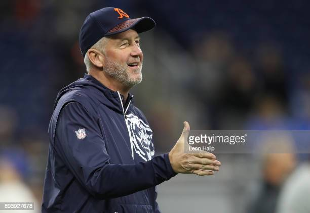 Head coach John Fox of the Chicago Bears on the field before the game against the Detroit Lions at Ford Field on December 16 2017 in Detroit Michigan