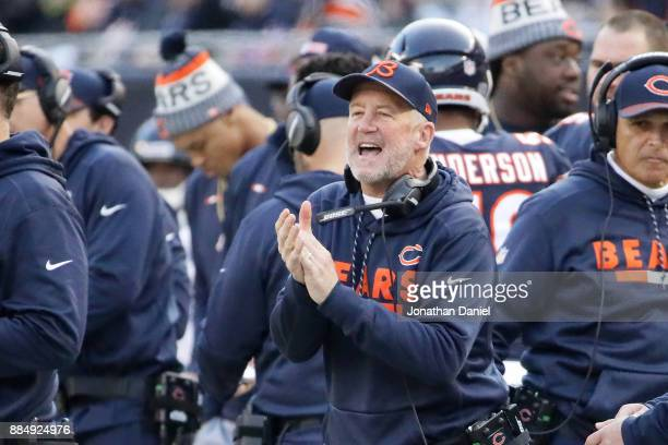 Head coach John Fox of the Chicago Bears stands on the sidelines in the third quarter against the San Francisco 49ers at Soldier Field on December 3...