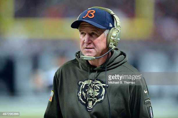 Head coach John Fox of the Chicago Bears watches from the sideline in the third quarter against the St Louis Rams at the Edward Jones Dome on...