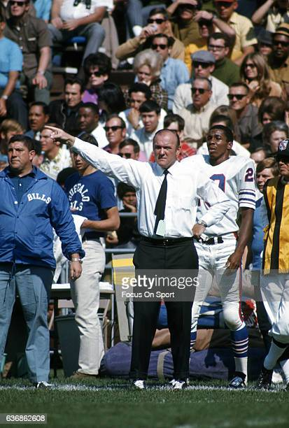 Head coach John Rauch of the Buffalo Bills looks on from the during an AFL football game circa 1969 Rauch coached the Bills from 196970
