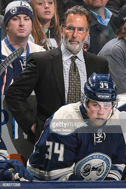 Head Coach John Tortorella of the Columbus Blue Jackets watches his team play against the Arizona Coyotes on December 5 2016 at Nationwide Arena in...