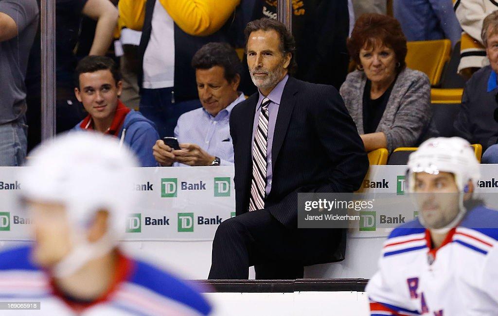 New York Rangers v Boston Bruins - Game Two : News Photo