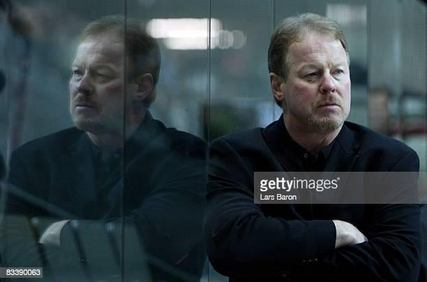 Head coach John van Boxmeer of Bern looks on during the IIHF Champions Hockey League match between SC Bern and Espoo Blues at the PostFinance Arena...
