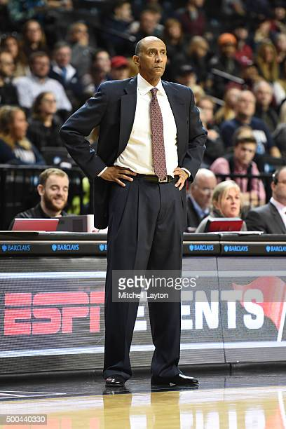 Head coach Johnny Dawkins of the Stanford Cardinal looks on during the consolation game of the NIT Season TipOff college basketball tournament...