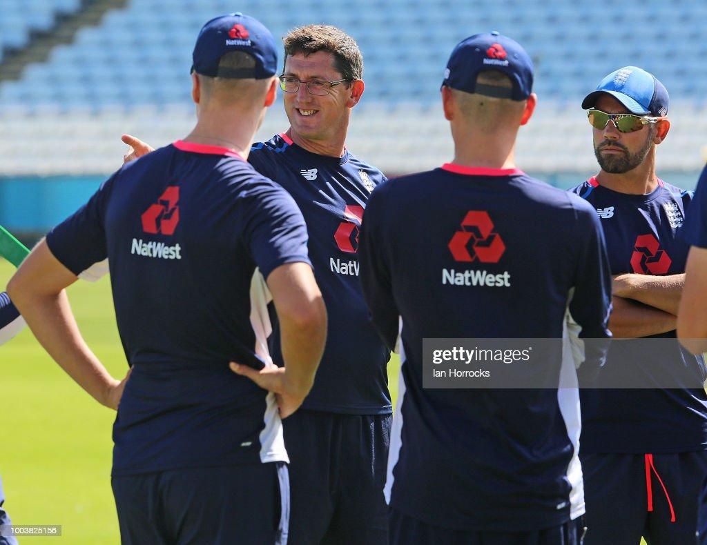 England U19 Nets Session : Foto jornalística