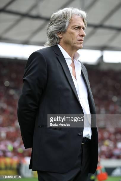 Head coach Jorge Fernando Pinheiro de Jesus of Flamengo looks on before a match between Flamengo and Palmeiras as part of Brasileirao Series A 2019...