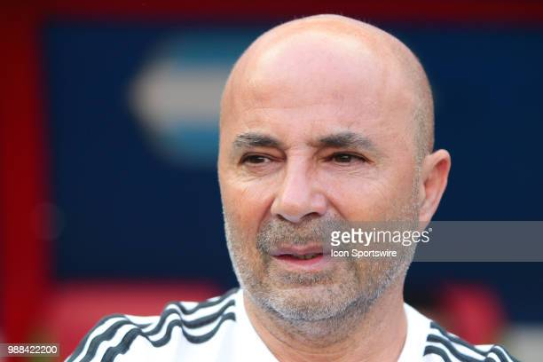 head coach Jorge Sampaoli of Argentina during the Round of 16 match between France and Argentina in the FIFA World Cup 2018 on June 30 at Kazan Arena...