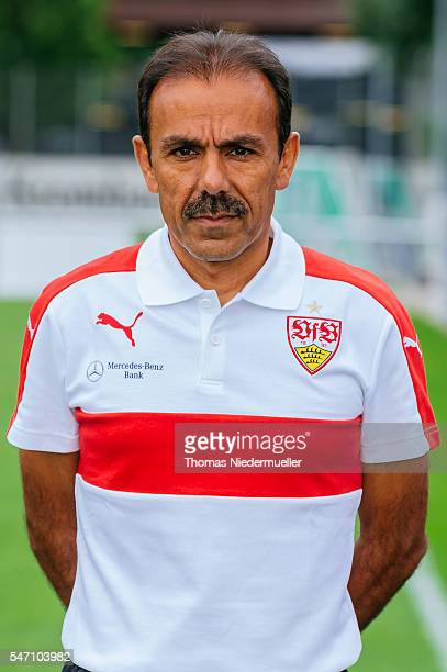 Head coach Jos Luhukay poses during the VfB Stuttgart team presentation on July 13 2016 in Stuttgart Germany