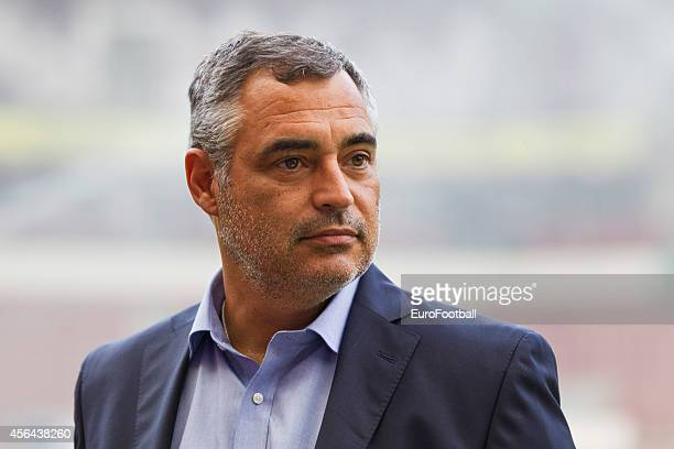 Head Coach Jose Couceiro of Estoril Praia in action during the UEFA Europa League match between PSV Eindhoven and Estoril Praia at the Philips...