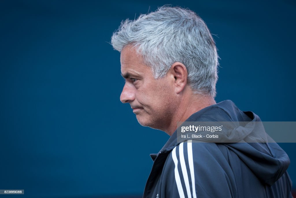 Head Coach Jose Mourinho of Manchester United during the International Champions Cup match between FC Barcelona and Manchester United at the FedEx Field on July 26, 2017 in Hyattsville , NJ. FC Barcelona won the match with a score of 1 to 0.