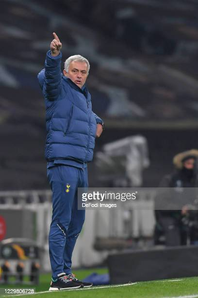 head coach Jose Mourinho of Tottenham Hotspur gestures during the UEFA Europa League Group J stage match between Tottenham Hotspur and PFC Ludogorets...