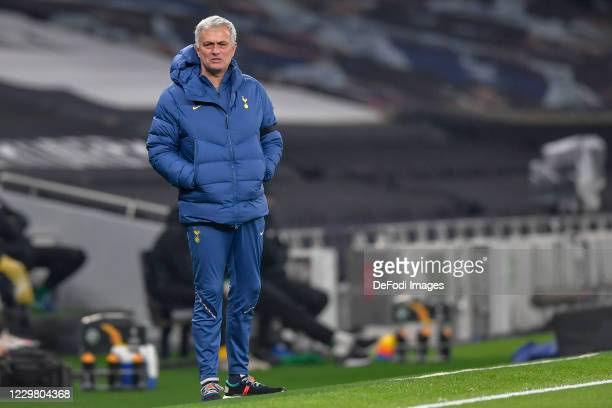 Head coach Jose Mourinho of Tottenham Hotspur looks on during the UEFA Europa League Group J stage match between Tottenham Hotspur and PFC Ludogorets...