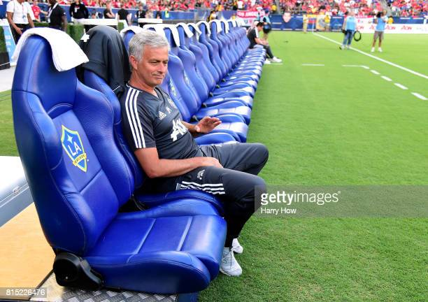 Head Coach Jose Mourinho waits before the match against the Los Angeles Galaxy at StubHub Center on July 15 2017 in Carson California