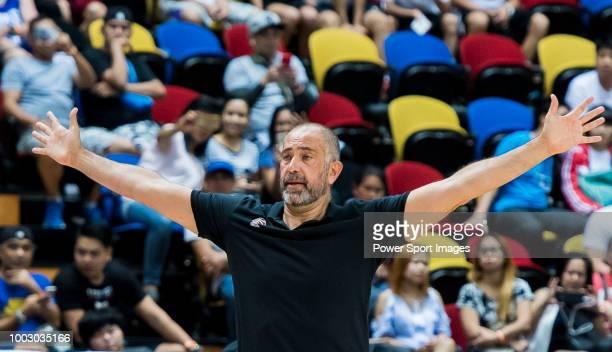 Head coach Juan Antonio Orenga Forcada of Guangzhou Long Lions reacts during Summer Super 8 Semifinals game between Guangzhou Long Lions and NLEX...