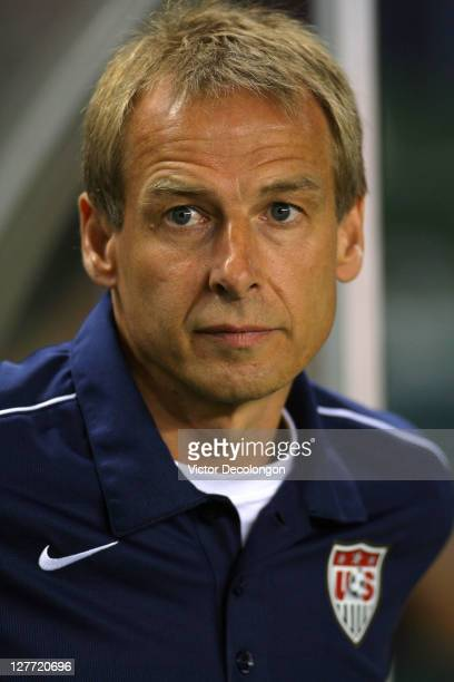 Head Coach Juergen Klinsmann of USA prior to the International Friendly against Costa Rica at The Home Depot Center on September 2 2011 in Carson...